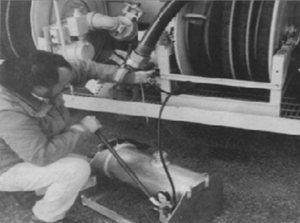 GNY Portable Hose Tester in use